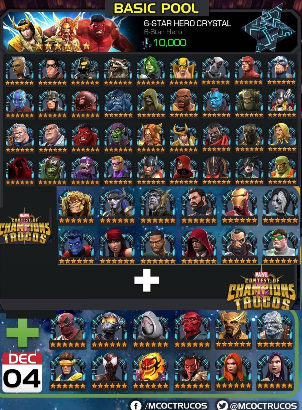Mcoc Best Science Champs 2019 Available and Upcoming Champions in 6 Star Basic Pool?   MCOC Guide