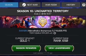 How Many Alliances are in Platinum, Gold, Silver, Bronze, and Stone