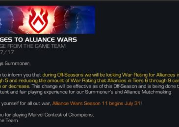 No More Off-Season Cheating in AW, AW Season 11 Start Date